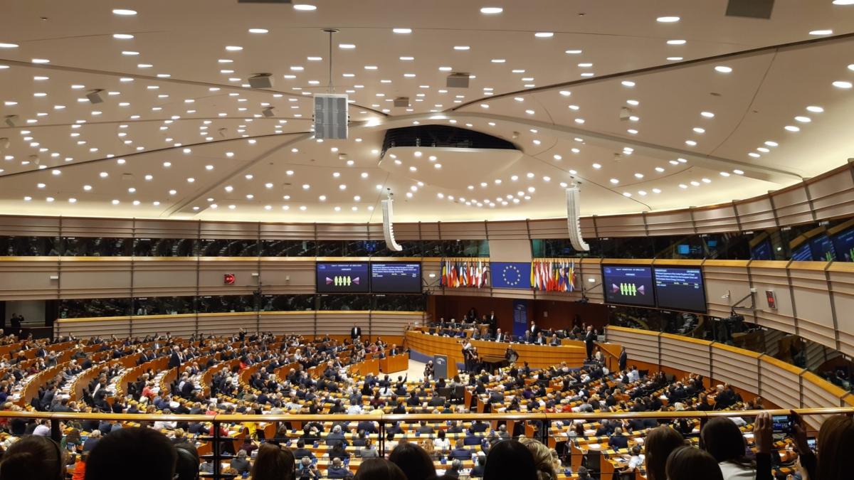 Im Europäischen Parlament während der Brexit- Abstimmung